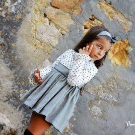 Vestido cuadro y plumeti MONT BLANC de NOMA, invierno 2018