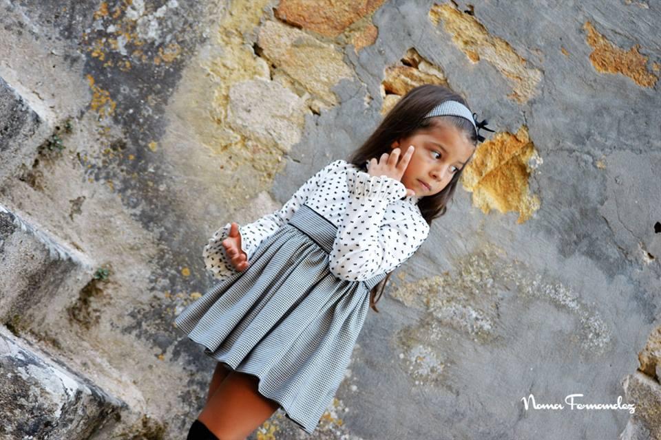 Vestido cuadro y plumeti MONT BLANC de NOMA