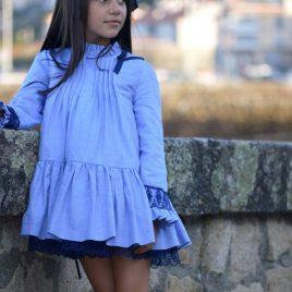 Vestido lencero azul TREVINKA de NOMA, invierno 2018