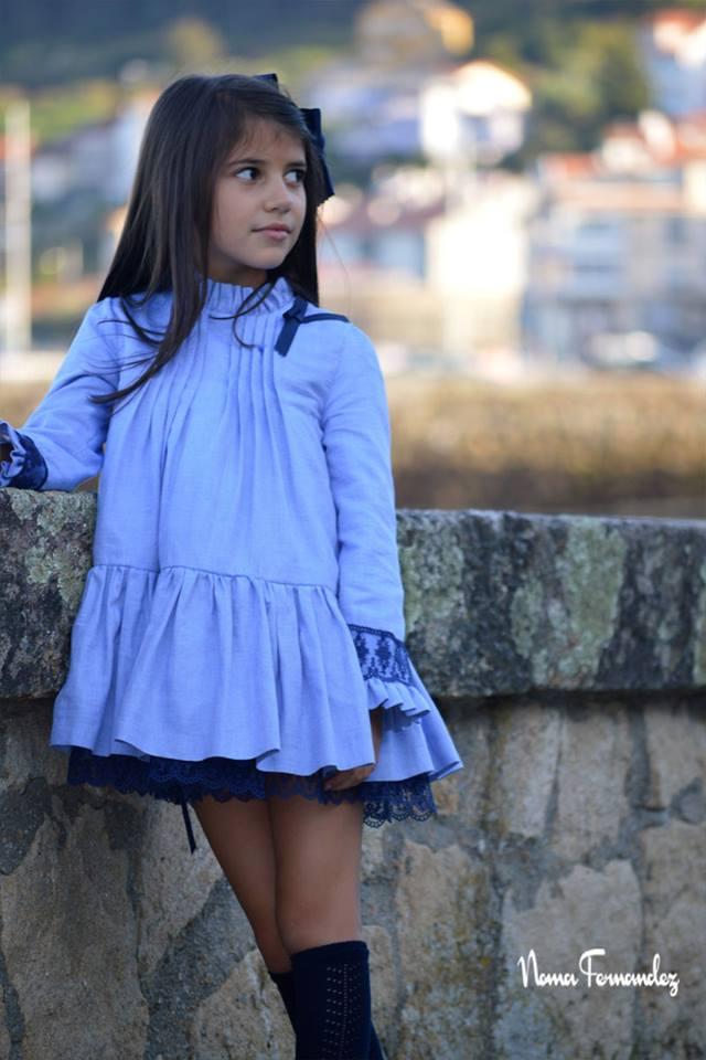 Vestido lencero azul TREVINKA de NOMA