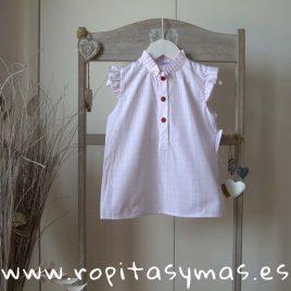 Camisa blanca y granate ANCAR, verano 2016