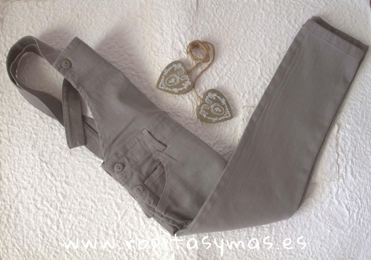 Peto jeans gris niña de ANCAR