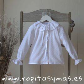 Blusa plumeti blanco volante de ANCAR, invierno 2019