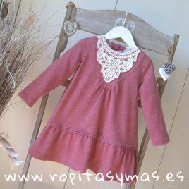 Vestido charleston punto flameado rosa  de ANCAR, invierno 2018
