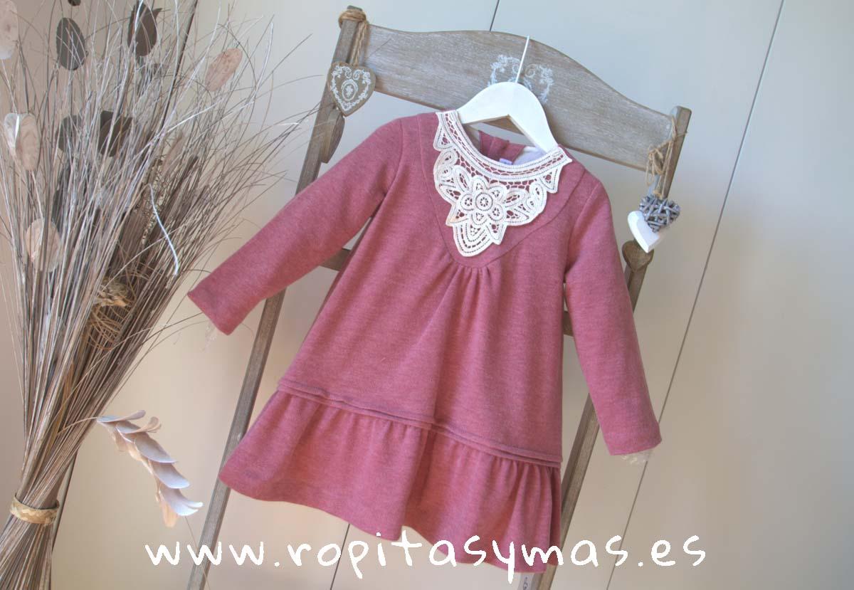 Vestido charleston punto flameado rosa de ANCAR