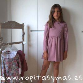 Vestido  berenjena  de ANCAR, invierno 2018