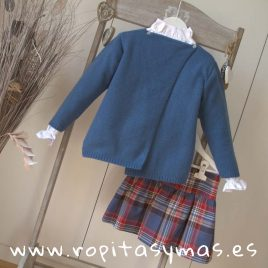 Falda cintura ancha escocesa de ANCAR, invierno 2018
