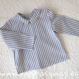 Camisa bebe rayas azules y blancas de ANCAR, invierno 2018