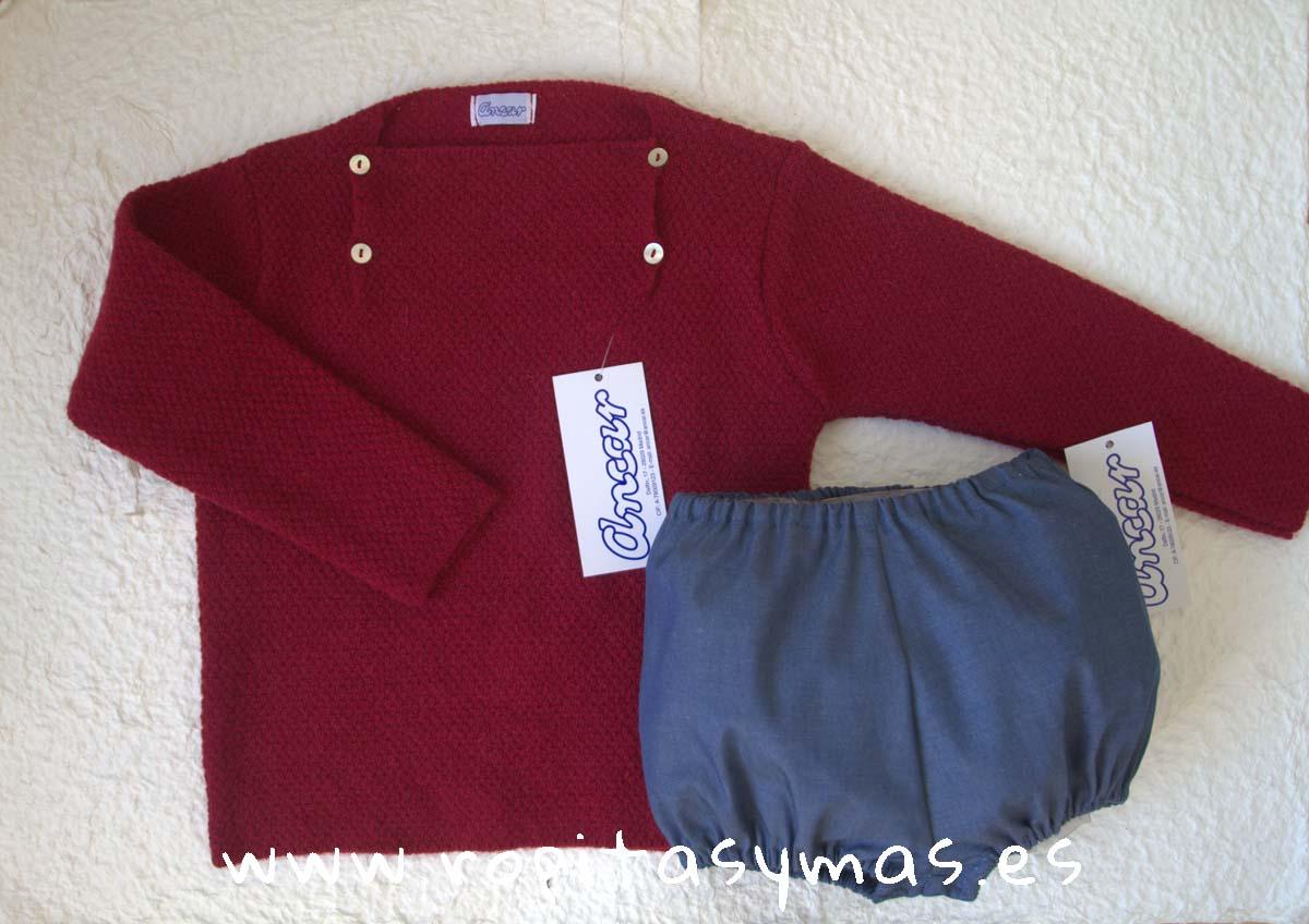 Jersey RUBI botones y Bombacho jeans de ANCAR