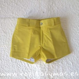 Pantalón muy corto micropana amarilla de ANCAR, invierno 2018
