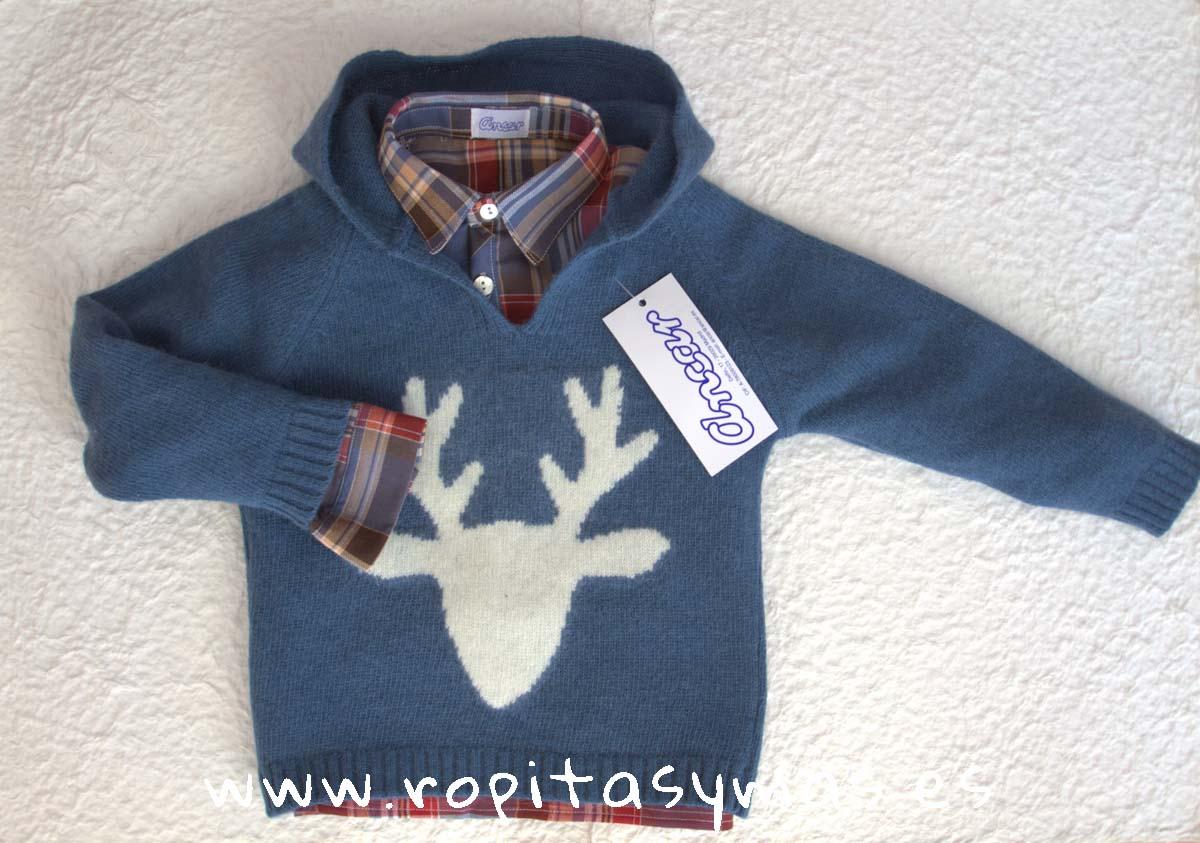Jersey azulón reno capucha de ANCAR
