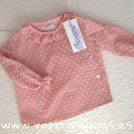 Camisa bebe plumeti rosa empolvado de  ANCAR, invierno 2018