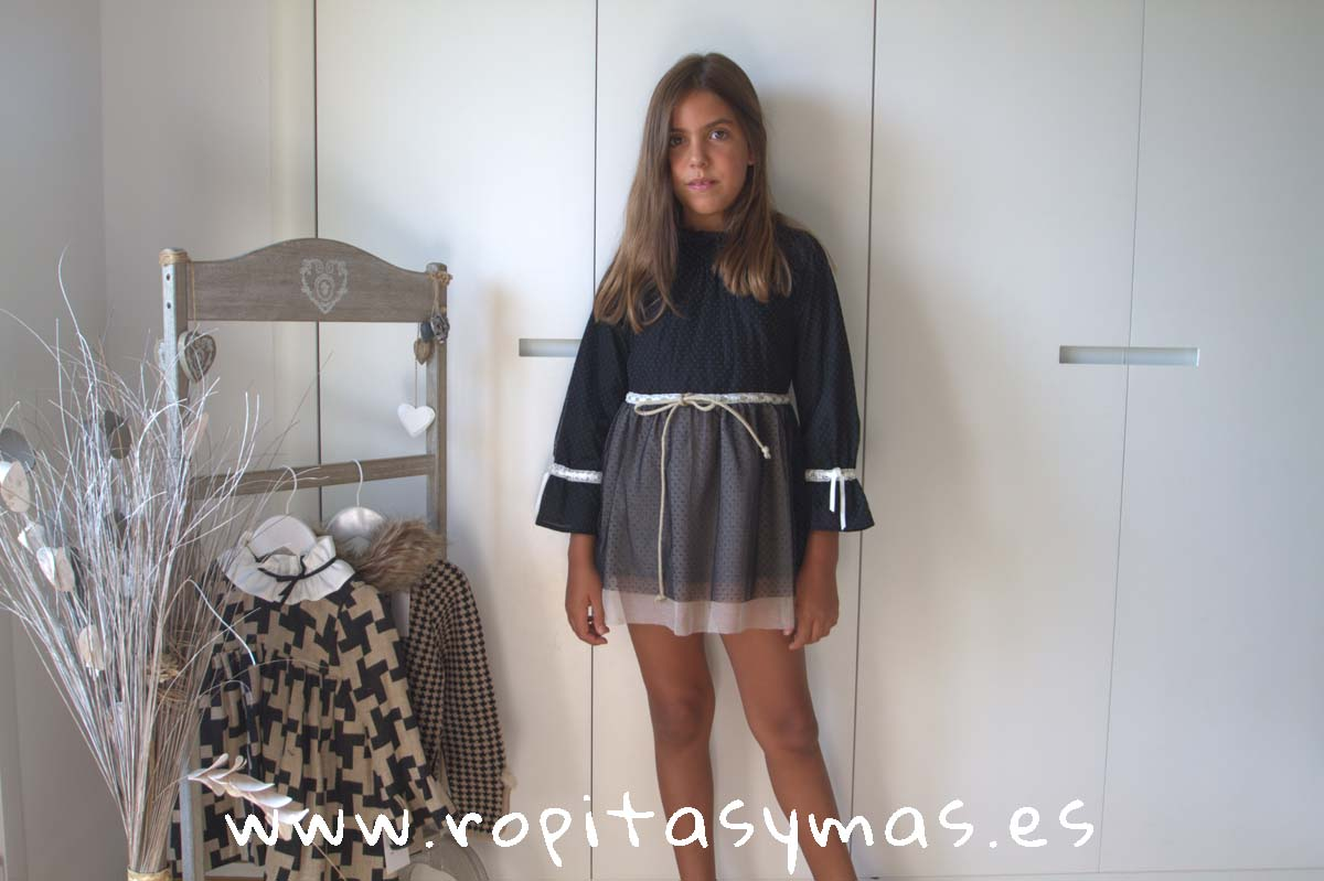 Vestido tul negro YOUNG & CHIC de KAULI