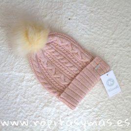 Gorro rosa punto PETIT SUISSE de KAULI, invierno 2018