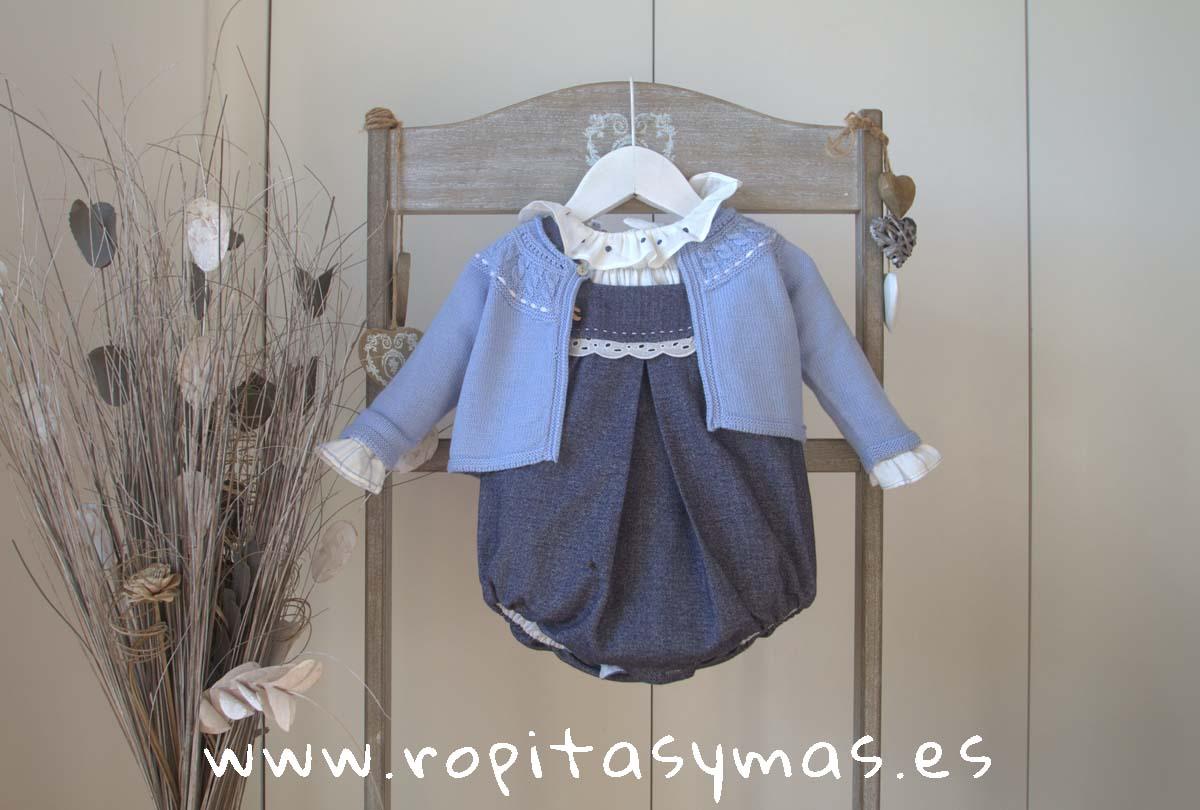 Ranita, Blusa bebe y Chaqueta bebe azul CLASSIC de KAULI