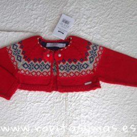 Chaqueta corta roja greca niña MOSCÚ de KAULI, invierno 2018