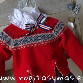 Jersey rojo greca niña MOSCÚ de KAULI, invierno 2018