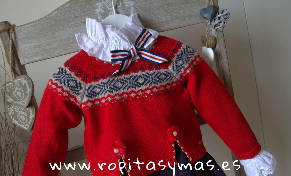 Jersey rojo greca niña MOSCÚ de KAULI