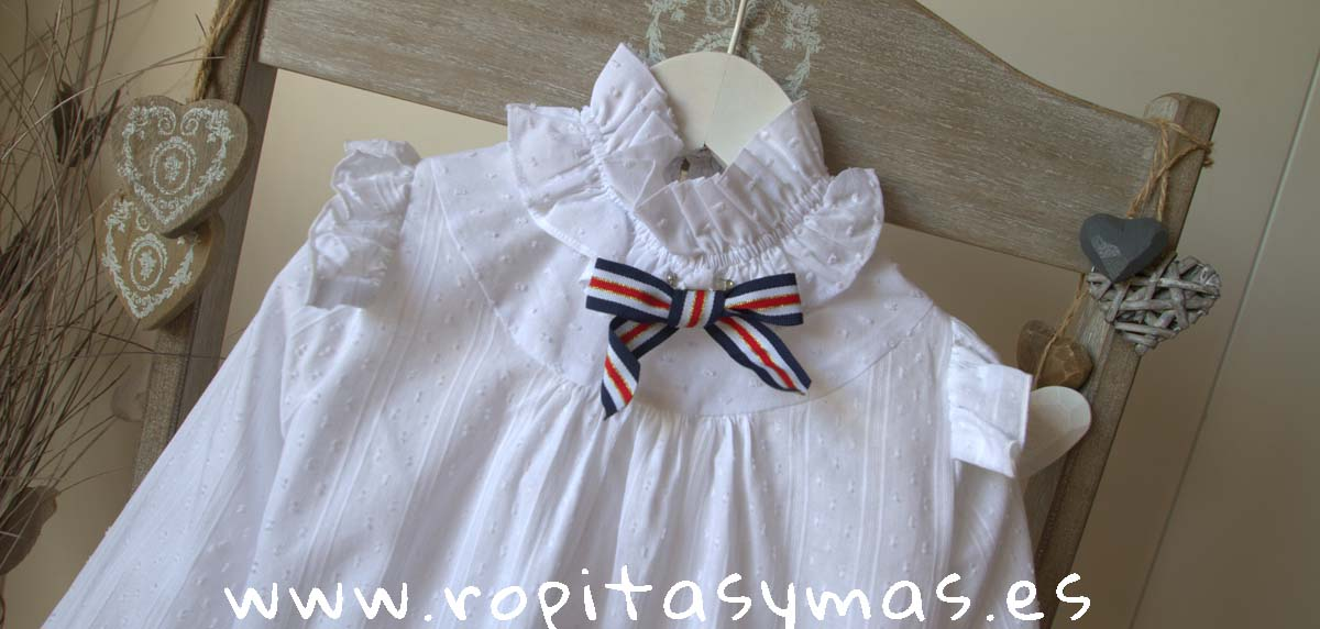 Blusa blanca plumeti volante MOSCÚ de KAULI