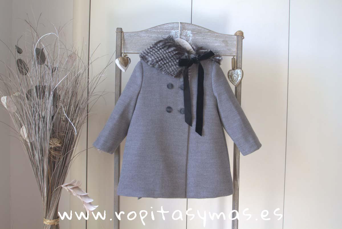 Abrigo muflón gris ANCAR