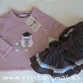 Conjunto braga-falda NEVADA de COCCO ROSE, invierno 2018