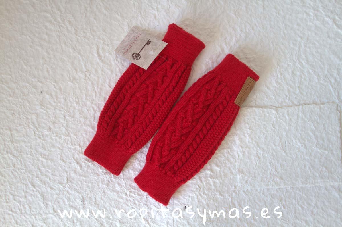 Calentadores trenzas rojos de COCCO ROSE
