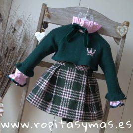 Jersey corto ANNA verde niña de EVA CASTRO, invierno 2018