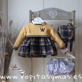 Jersey LEONOR corto mostaza niña de EVA CASTRO, invierno 2018