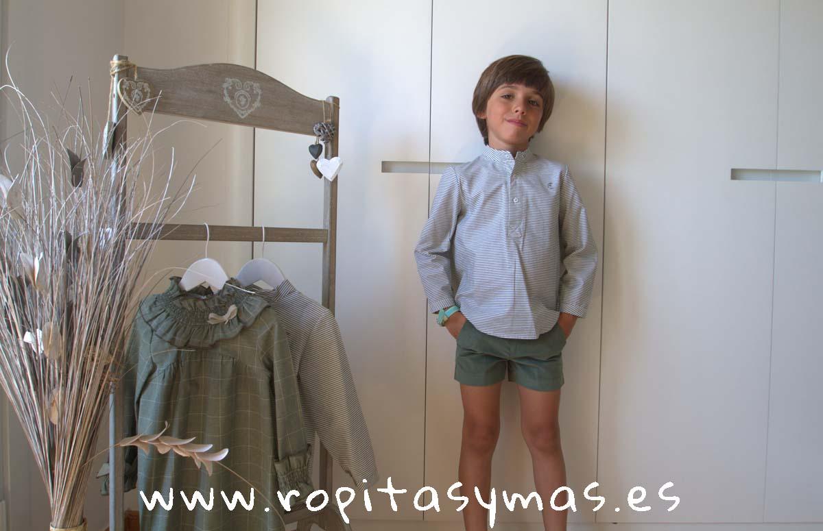 Conjunto niño rayas verdes FOREST de EVE CHILDREN