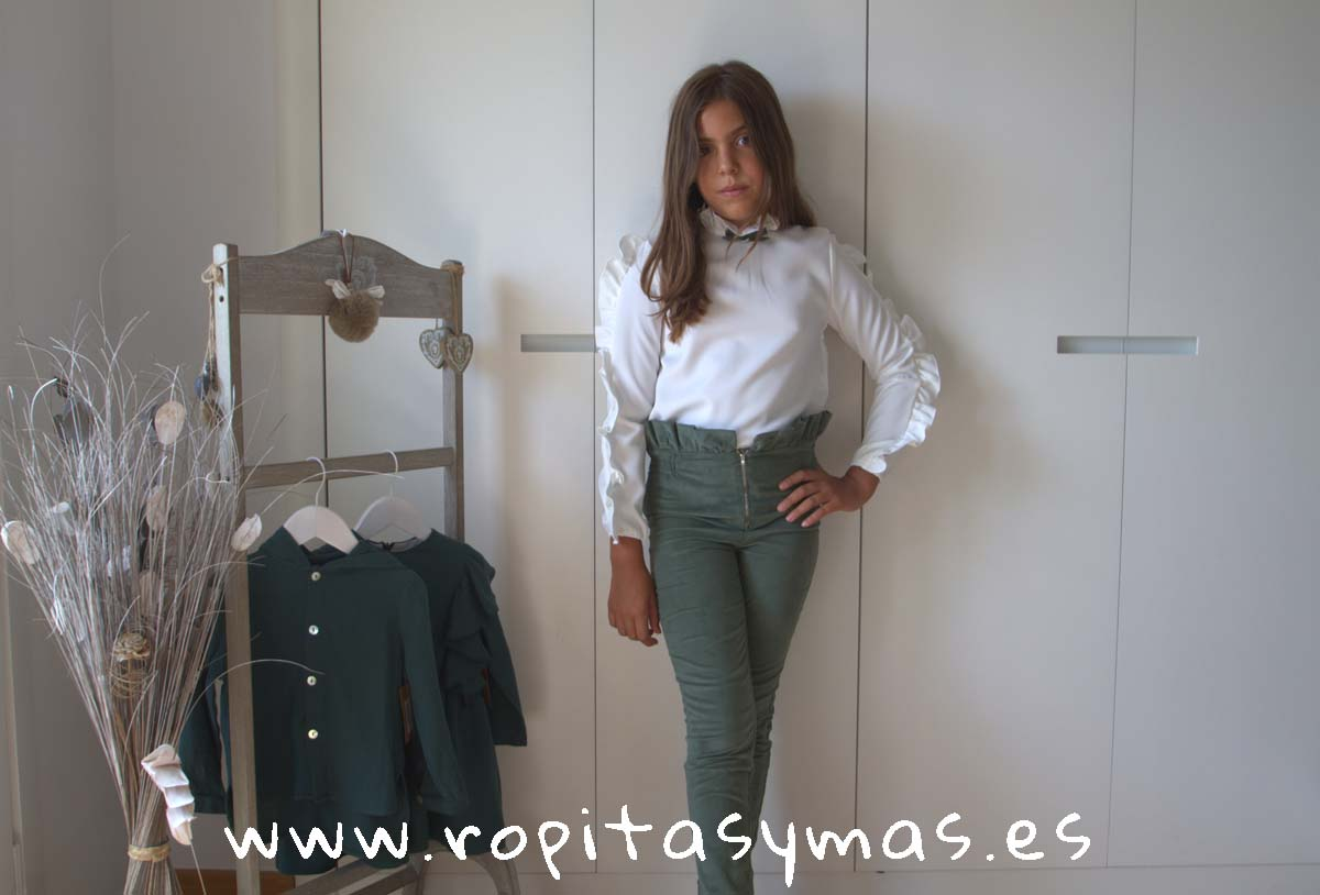 Conjunto niña pantalón verde FOREST de EVE CHILDREN