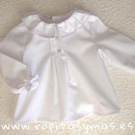 Blusa bebé blanca CLAIRE de MAMI MARIA, invierno 2018
