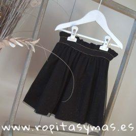 Falda negra brillo KAREN de MAMI MARIA, invierno 2018