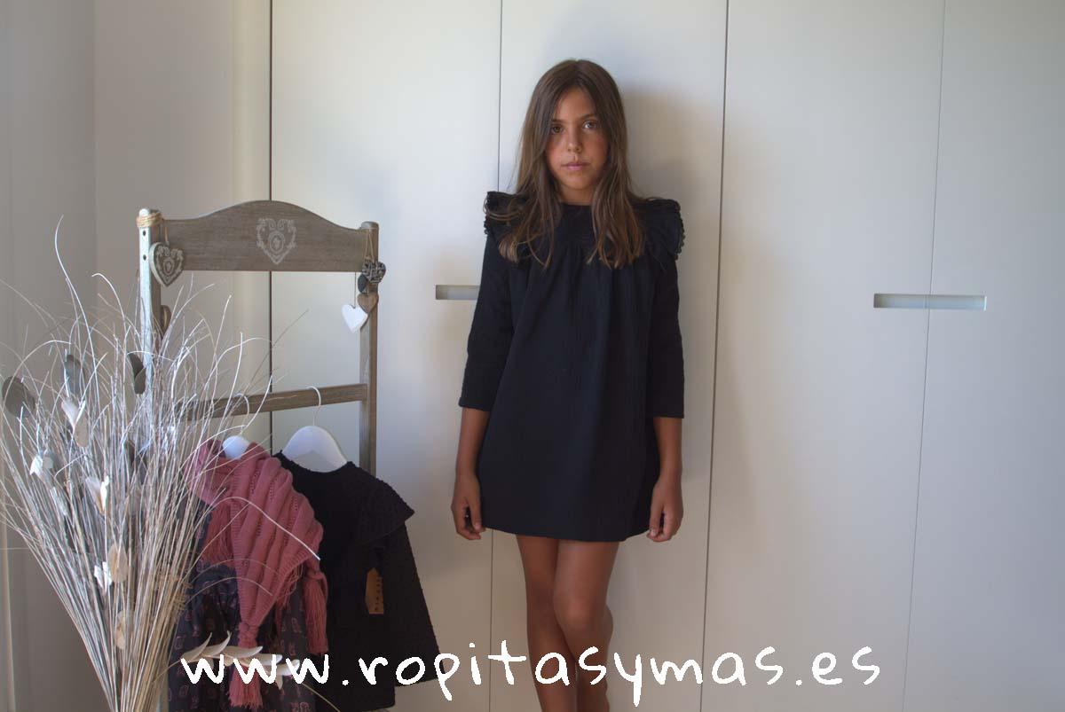 Vestido negro bambula de MIA Y LIA