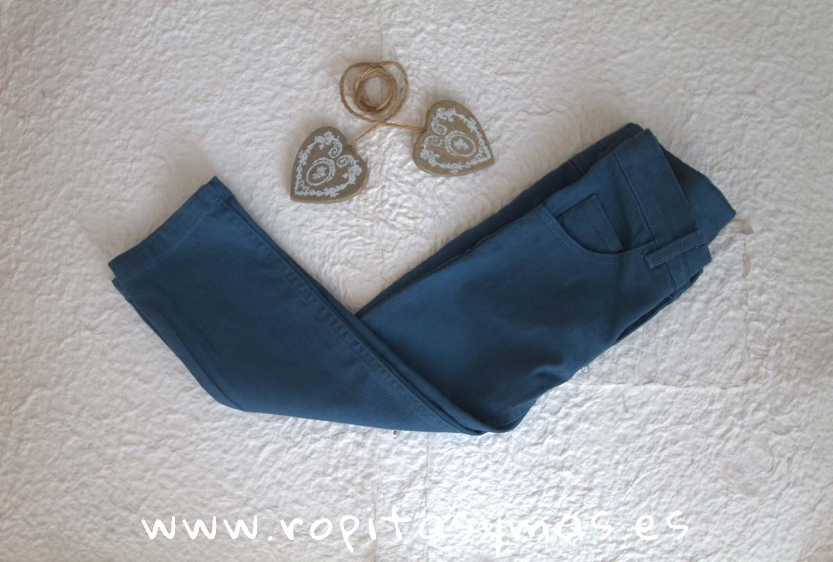 Pantalón pitillo azulón niño de ANCAR