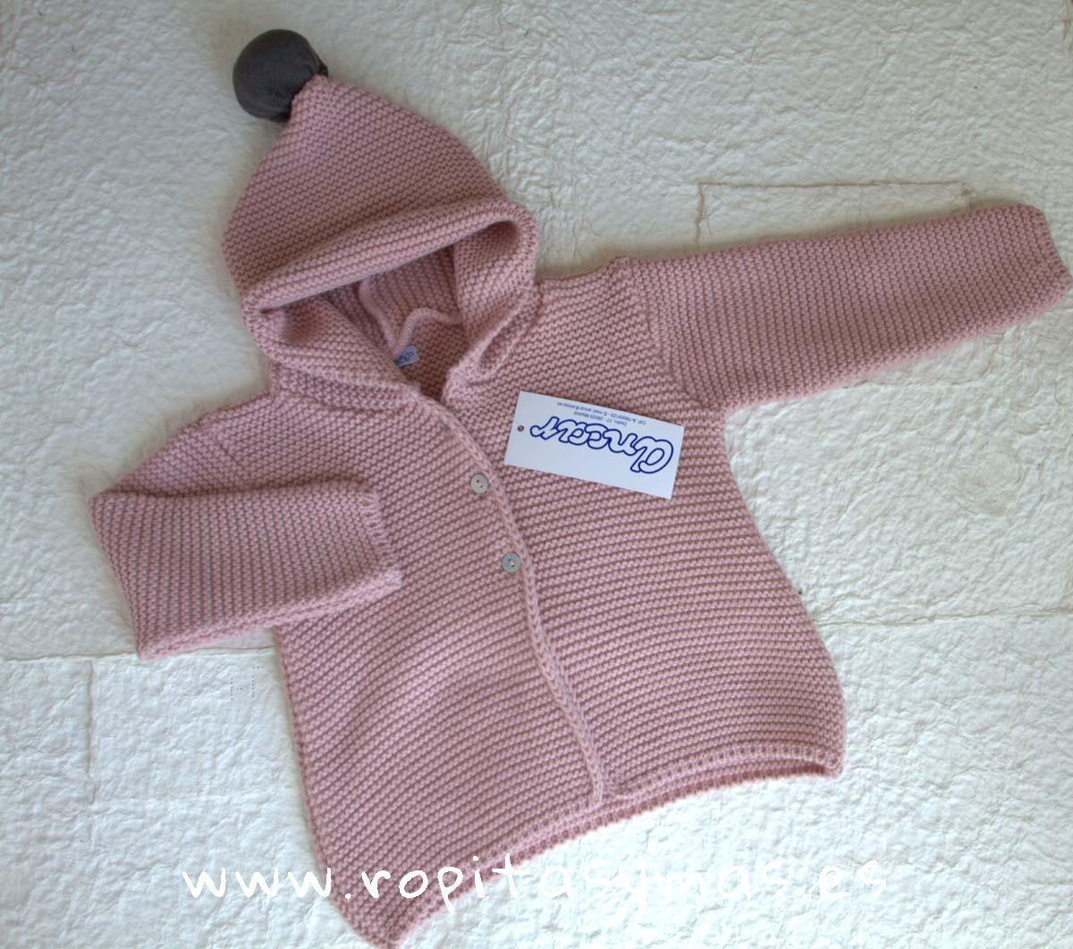 Chaqueta capucha rosa empolvado de Ancar