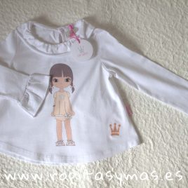 Camiseta muñeca EVA CASTRO niña, invierno 2018