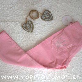 Pantalón PITILLO niña rosa de EVA CASTRO, invierno 2018