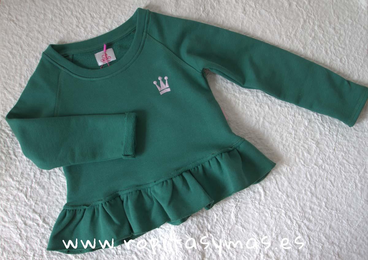Sudadera verde niña de EVA CASTRO