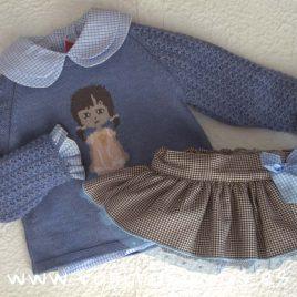 Conjunto niña JUSTINE azulado de EVA CASTRO, invierno 2018