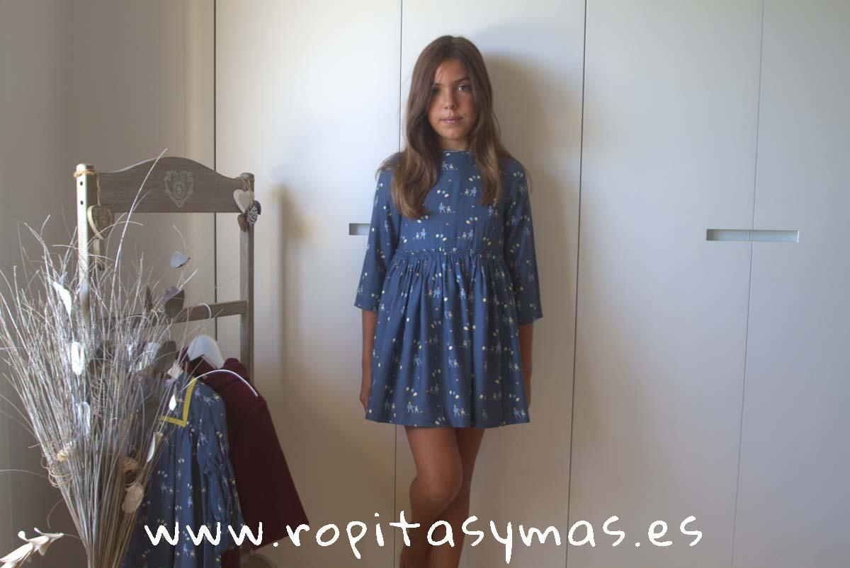 Vestido azul globos de MIA Y LIA