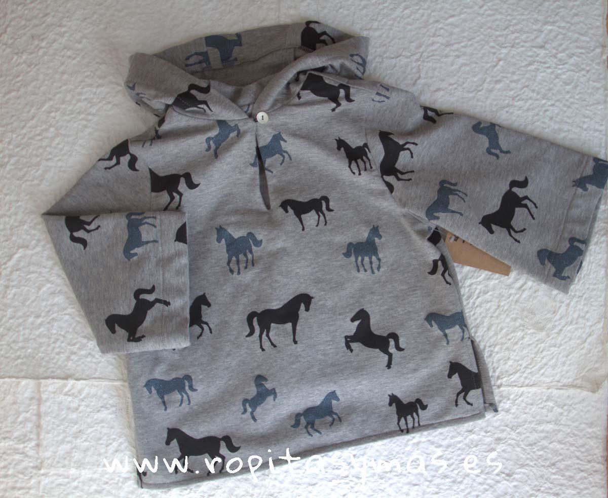 Sudadera gris caballos de MIA Y LIA