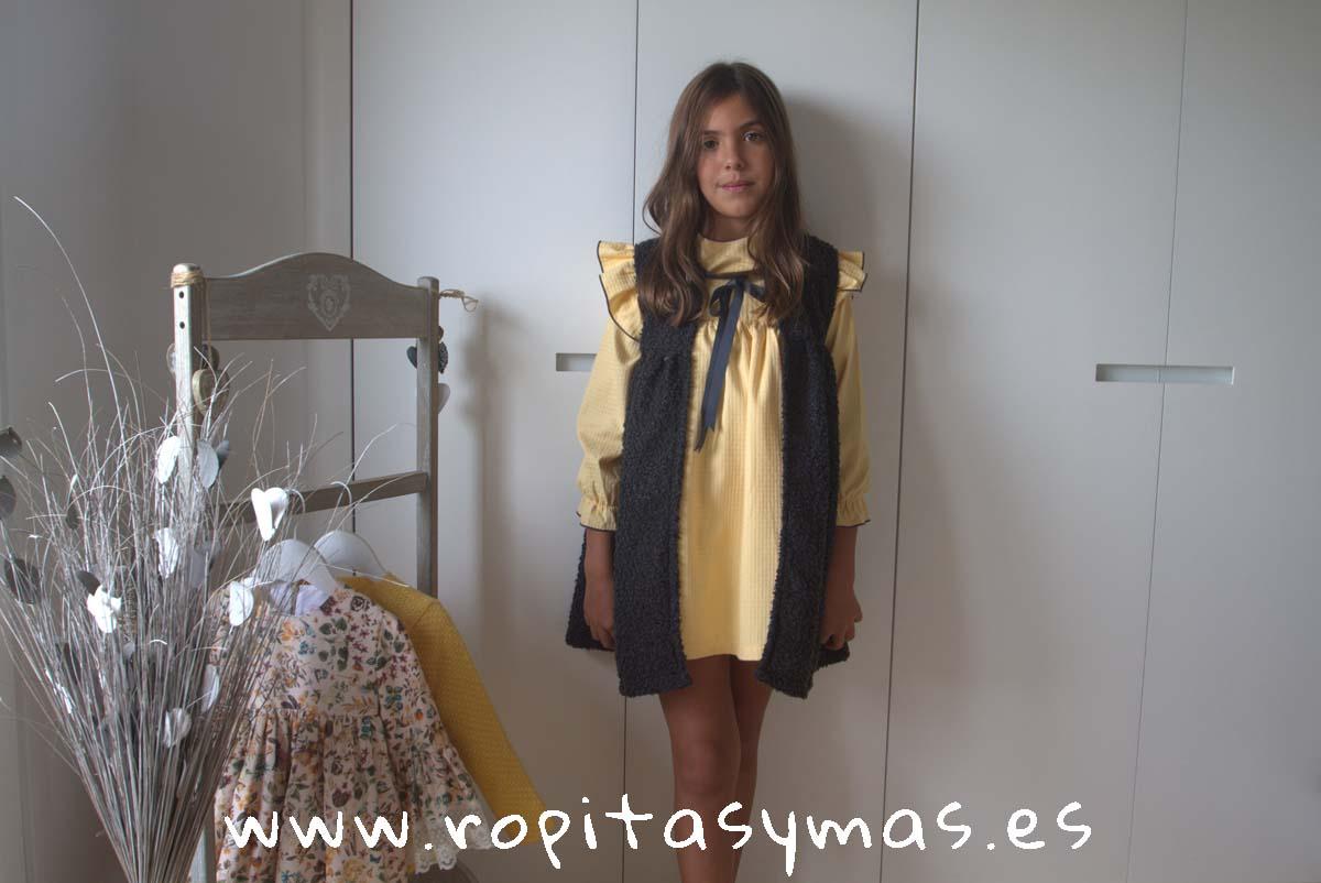 Vestido-chaleco amarillo LUPITA de COCCO ROSSE