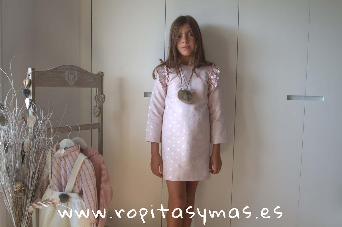 Vestido evasé rosa SILVER de COCCO ROSSE