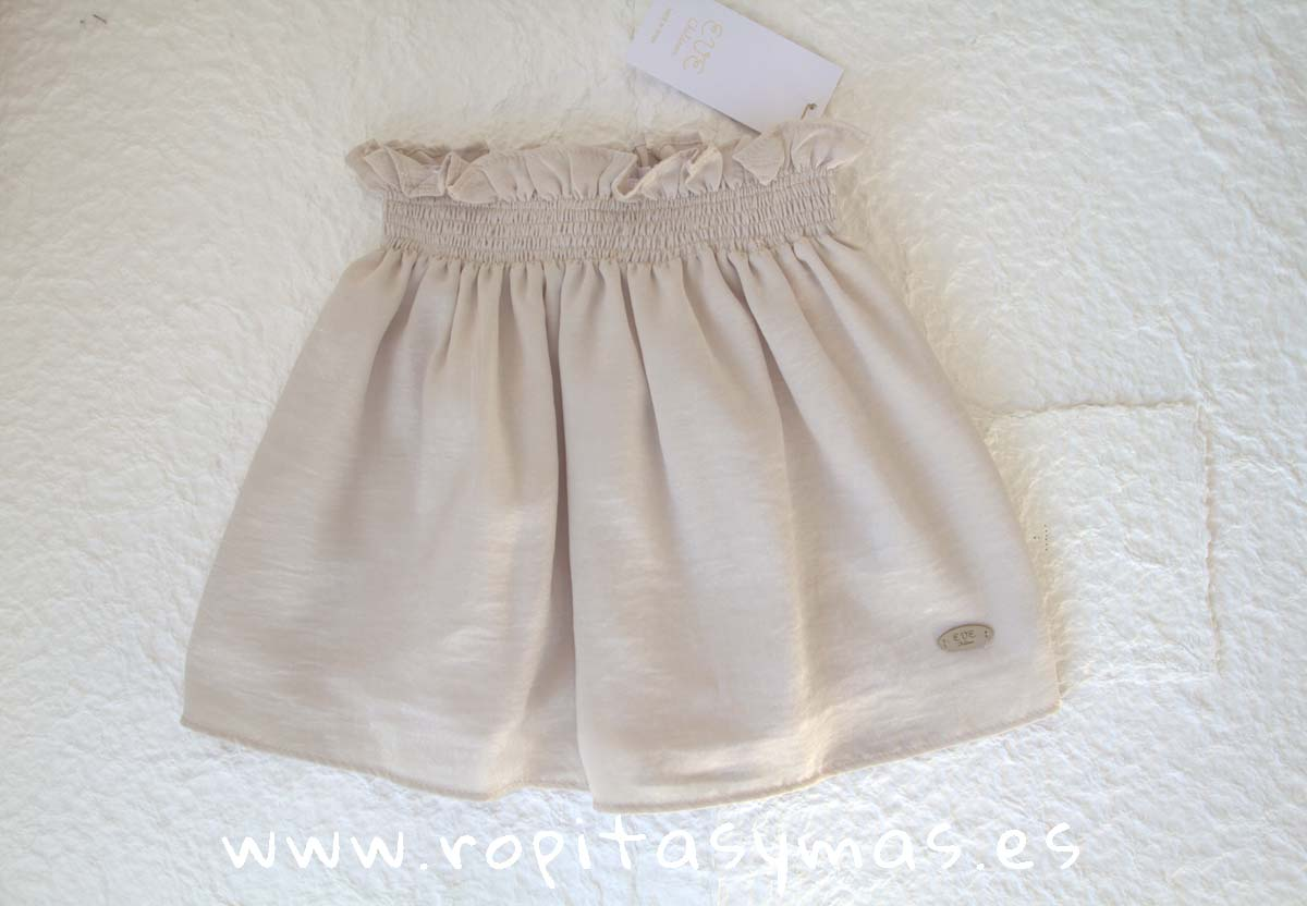 Falda beige rugosa TEEN de EVE CHILDREN
