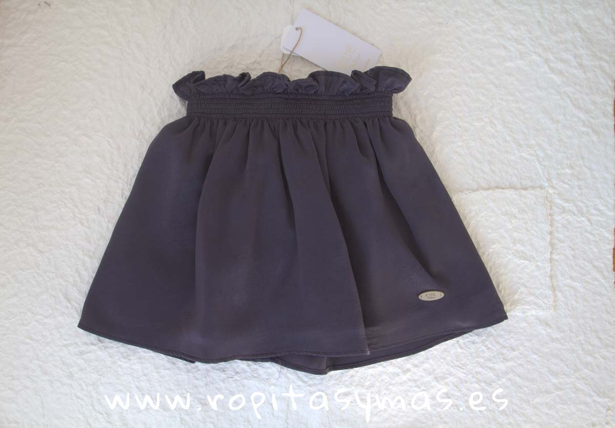 Falda gris rugosa TEEN de EVE CHILDREN