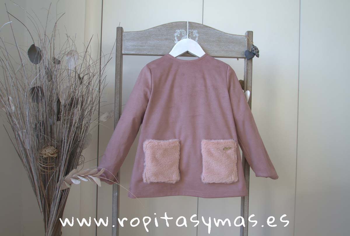 Sudadera antelina rosa TEEN de EVE CHILDREN