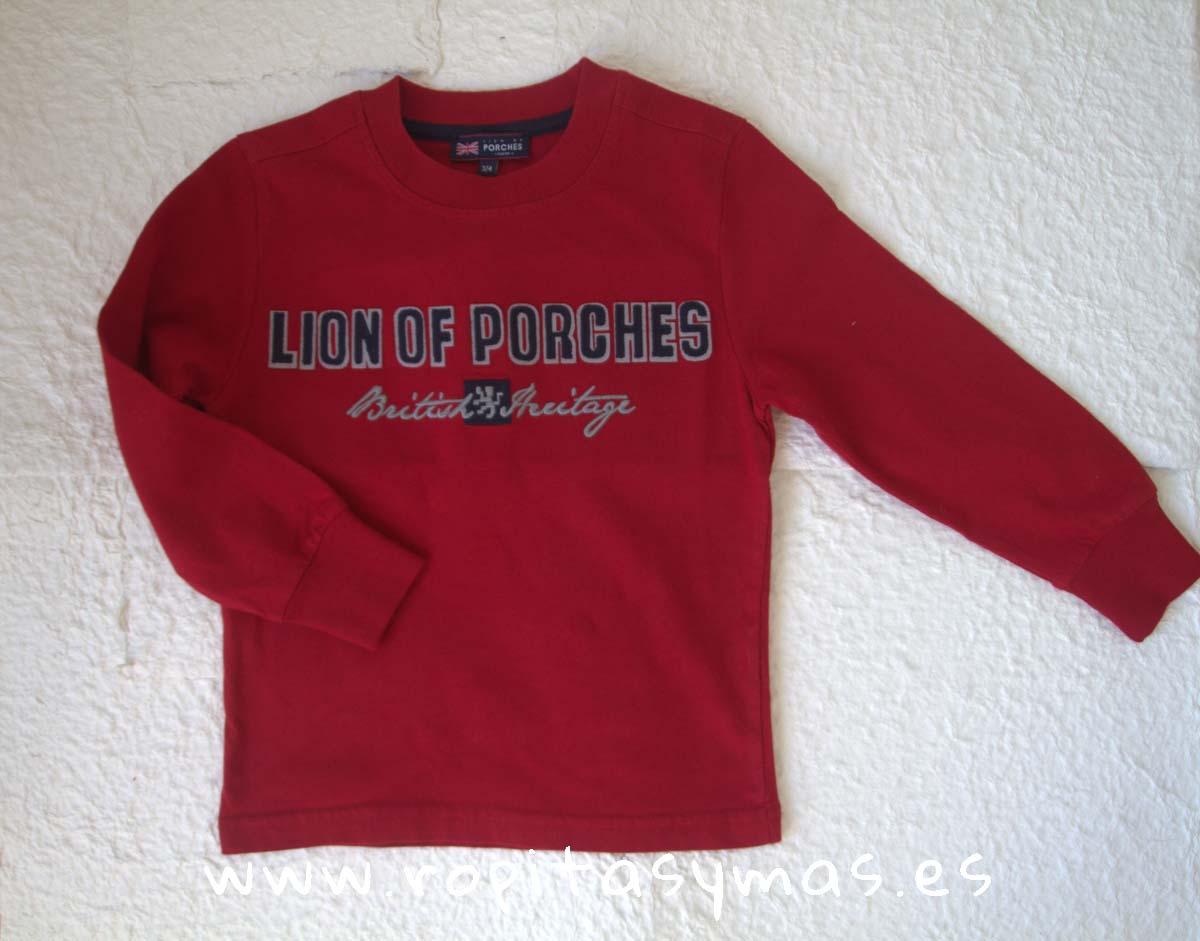 Camiseta roja manga larga de LION OF PORCHES