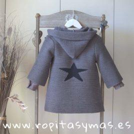 Chaqueta gris estrella con capucha de MIA Y LIA, invierno 2018