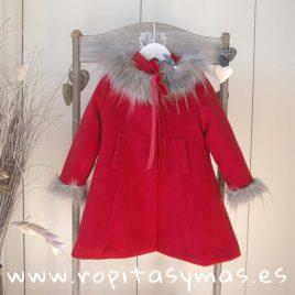 Abrigo rojo MOSCÚ niña de KAULI, invierno 2018