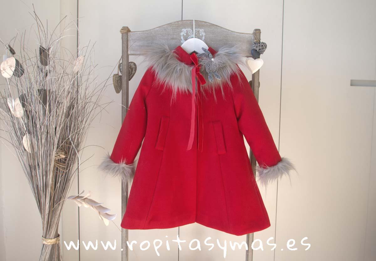 9078735dd Abrigo rojo MOSCÚ niña de KAULI, invierno 2018